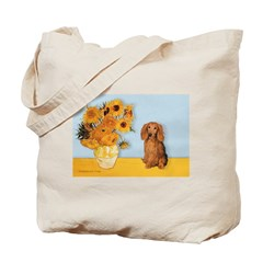 Sunflowers - Doxie (LH,S) Tote Bag