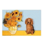 Sunflowers - Doxie (LH,S) Postcards (Package of 8)