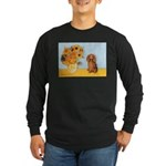 Sunflowers - Doxie (LH,S) Long Sleeve Dark T-Shirt