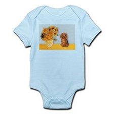 Sunflowers - Doxie (LH,S) Infant Bodysuit