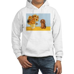 Sunflowers - Doxie (LH,S) Hooded Sweatshirt
