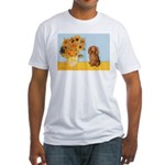 Sunflowers - Doxie (LH,S) Fitted T-Shirt