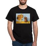 Sunflowers - Doxie (LH,S) Dark T-Shirt