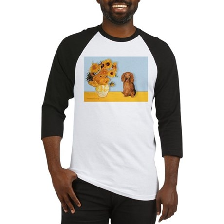 Sunflowers - Doxie (LH,S) Baseball Jersey