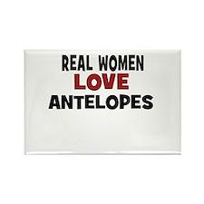 Real Women Love Antelopes Rectangle Magnet