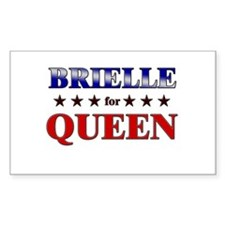 BRIELLE for queen Rectangle Decal
