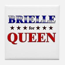 BRIELLE for queen Tile Coaster