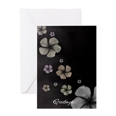 Hibiscus on Black Greeting Card