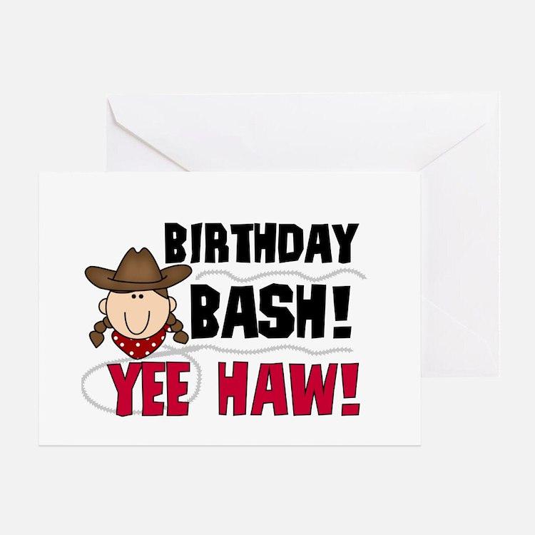 Cowgirl Birthday Bash Greeting Card