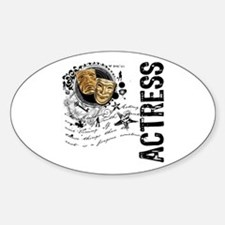 Actress Alchemy Collage Oval Decal