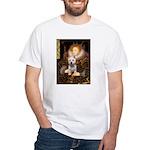 Queen Liz & Her Westie White T-Shirt