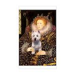 Queen Liz & Her Westie Sticker (Rectangle)