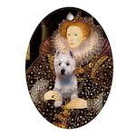 Queen Liz & Her Westie Ornament (Oval)