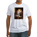 Queen Liz & Her Westie Fitted T-Shirt