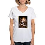 Queen Liz & Her Westie Women's V-Neck T-Shirt