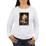 Queen Liz & Her Westie Women's Long Sleeve T-Shirt
