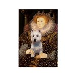 Queen Liz & Her Westie Rectangle Magnet