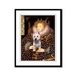 Queen Liz & Her Westie Framed Panel Print