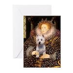 Queen Liz & Her Westie Greeting Cards (Pk of 20)