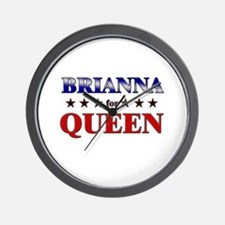 BRIANNA for queen Wall Clock