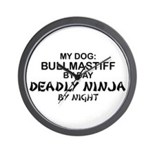Bullmastiff Deadly Ninja Wall Clock
