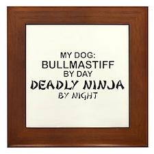 Bullmastiff Deadly Ninja Framed Tile
