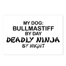 Bullmastiff Deadly Ninja Postcards (Package of 8)