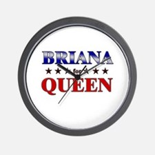 BRIANA for queen Wall Clock