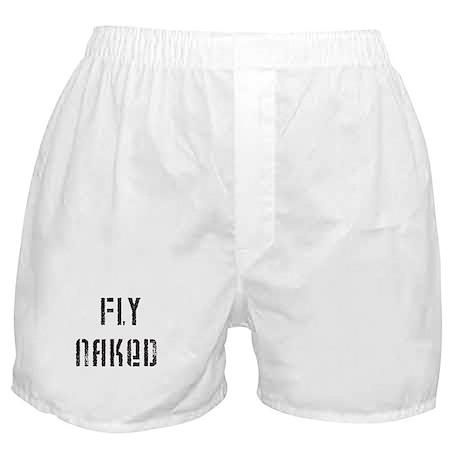 Fly Naked Boxer Shorts