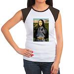 Mona & her PS Giant Schnauzer Women's Cap Sleeve T