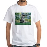 Lily Pond Bridge/Giant Schnau White T-Shirt
