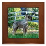 Lily Pond Bridge/Giant Schnau Framed Tile