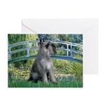 Lily Pond Bridge/Giant Schnau Greeting Card