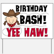 Cowgirl Birthday Bash Yard Sign