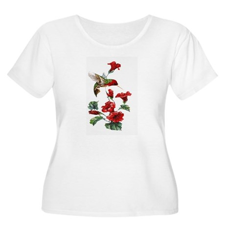 Red Hummingbird Women's Plus Size Scoop Neck T-Shi