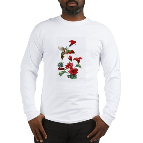 Red Hummingbird Long Sleeve T-Shirt