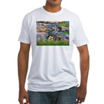 Lilies #2 & PS Giant Schnauze Fitted T-Shirt