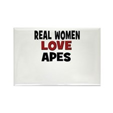 Real Women Love Apes Rectangle Magnet