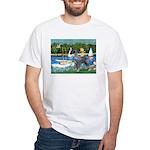 PS G. Schnauzer & Sailboats White T-Shirt