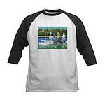 PS G. Schnauzer & Sailboats Kids Baseball Jersey