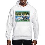 PS G. Schnauzer & Sailboats Hooded Sweatshirt