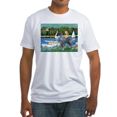 PS G. Schnauzer & Sailboats Fitted T-Shirt