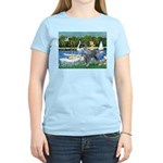 PS G. Schnauzer & Sailboats Women's Light T-Shirt