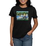 PS G. Schnauzer & Sailboats Women's Dark T-Shirt
