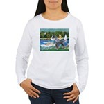 PS G. Schnauzer & Sailboats Women's Long Sleeve T-