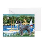 PS G. Schnauzer & Sailboats Greeting Cards (Pk of