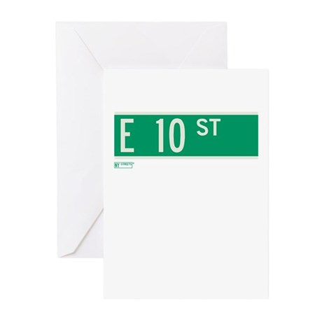 10th Street in NY Greeting Cards (Pk of 10)