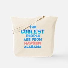 Coolest: Hayden, AL Tote Bag