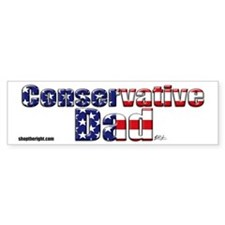 Conservative Dad bumpersticker
