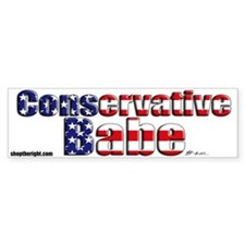 Conservative Babe Bumpersticker